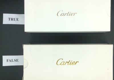 Packaging Cartier vs falso 12
