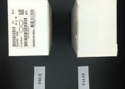 Packaging Cartier vs falso 13