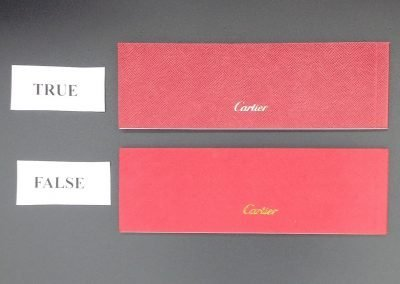 Packaging Cartier vs falso 4
